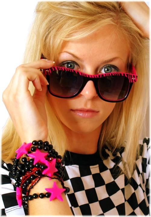 Pink Zebra Retro Sunglasses