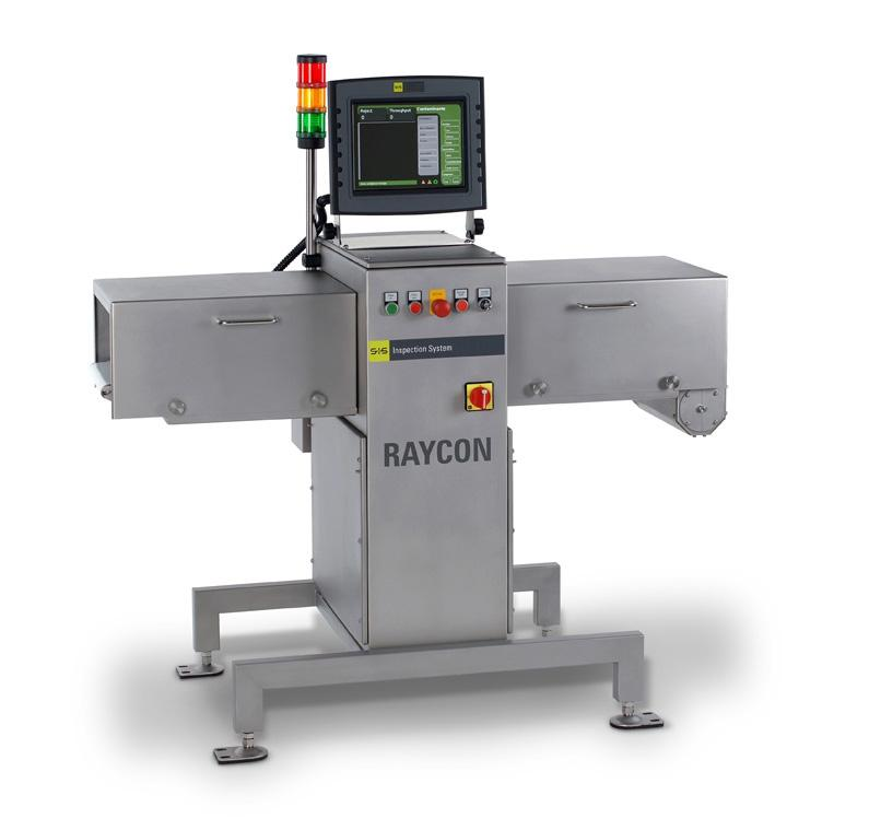 The RAYCON product inspection system is a comparatively compact and light-weight X-ray scanner for the final inspection of packaged products.