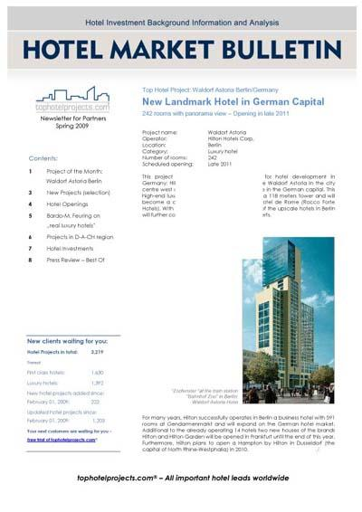 """""""Hotel Market Bulletin"""" now with more background"""