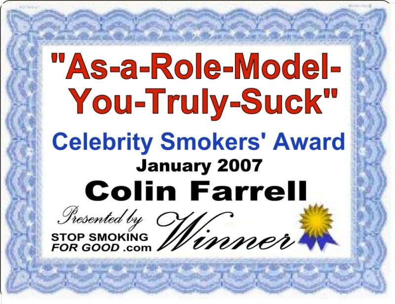 This Month's Celebrity Smokers' Award