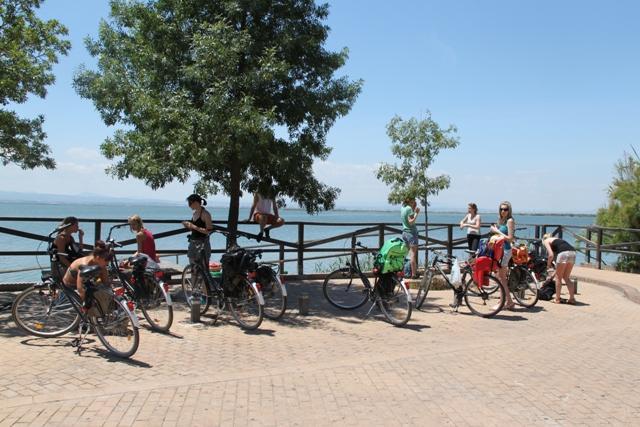 Bike ride till the Albufera Lagoon Nature Park to practice