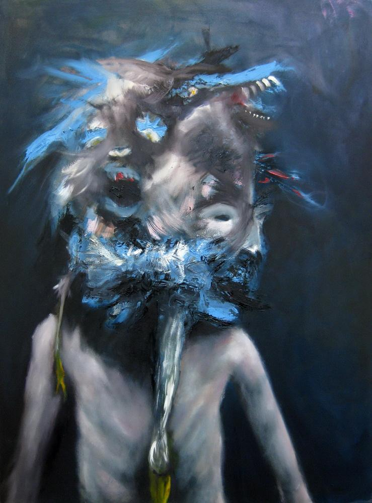 Emeli Theander, Growing mad, 2009, oil on canvas, 120 x 90 cm