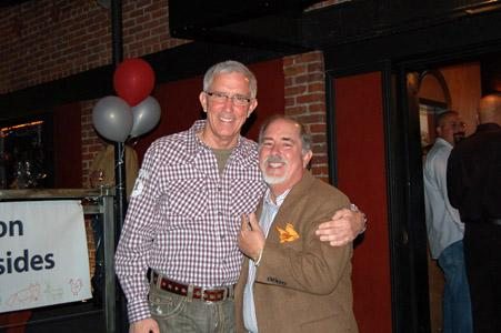 Bob Fisher, owner of The Ice House Comedy Club, with Fritz Coleman