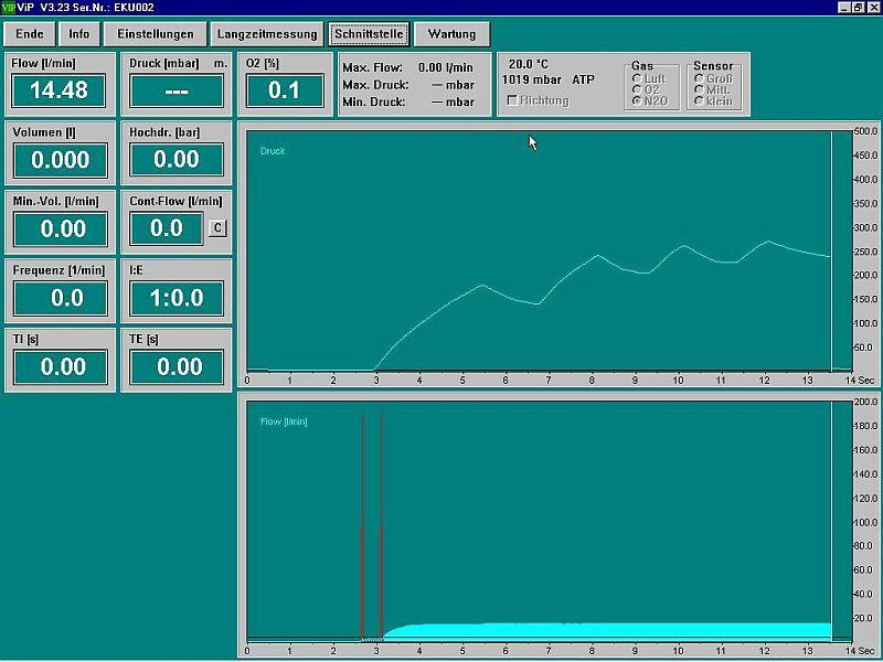 ViP PC-Software for graphical display of flow and pressure