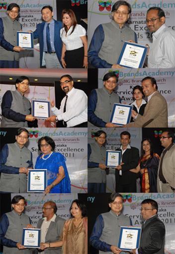 Brands Academy Karnataka Service Excellence Awards 2011