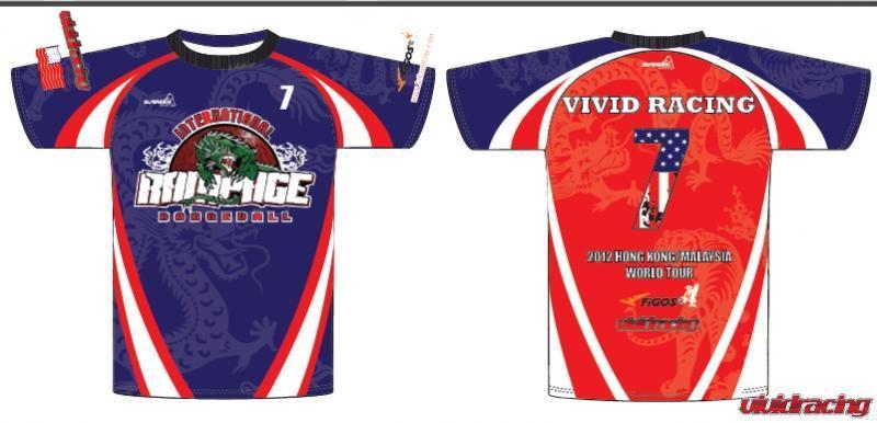Rampage Dodgeball sponsorship T-shirts