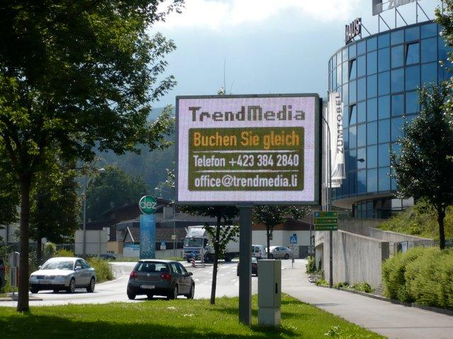 Outdoor Advertisment LED-Screen in West Austria Managed by Stinova Digital Signage Software