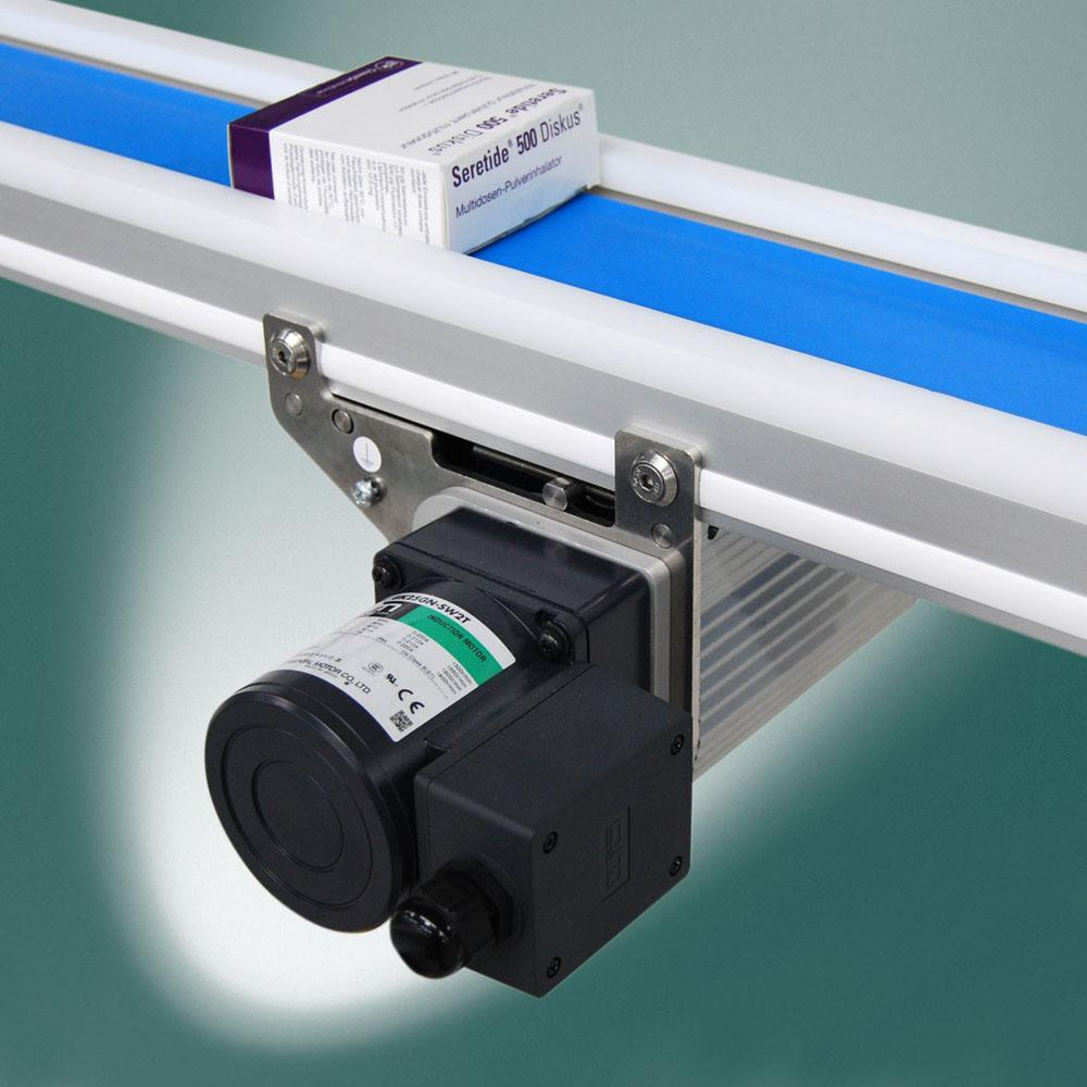 Montech conveyor for ISO 5 Class cleanroom applications