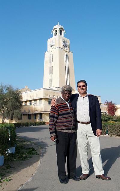 Dr Amitava Babi Mitra OEIT MIT USA with Prof  BR Natarajan Vice President BITSAA going around the BITS Pilani campus