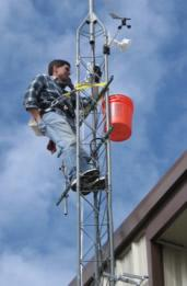 Installing weather cam at KPSO