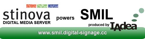 Stinova Digital Signage Software Supports SMIL Player produced by IAdea