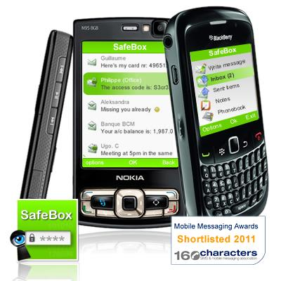 SafeBox Shortlisted for the Mobile Messaging Awards