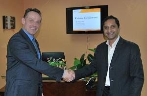 Oliver Ott of Microdasys with Anand Choudha of Spectrami (L to R)