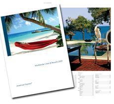 The new luxury travel brochure from Kanoo Travel and American Express Vacations