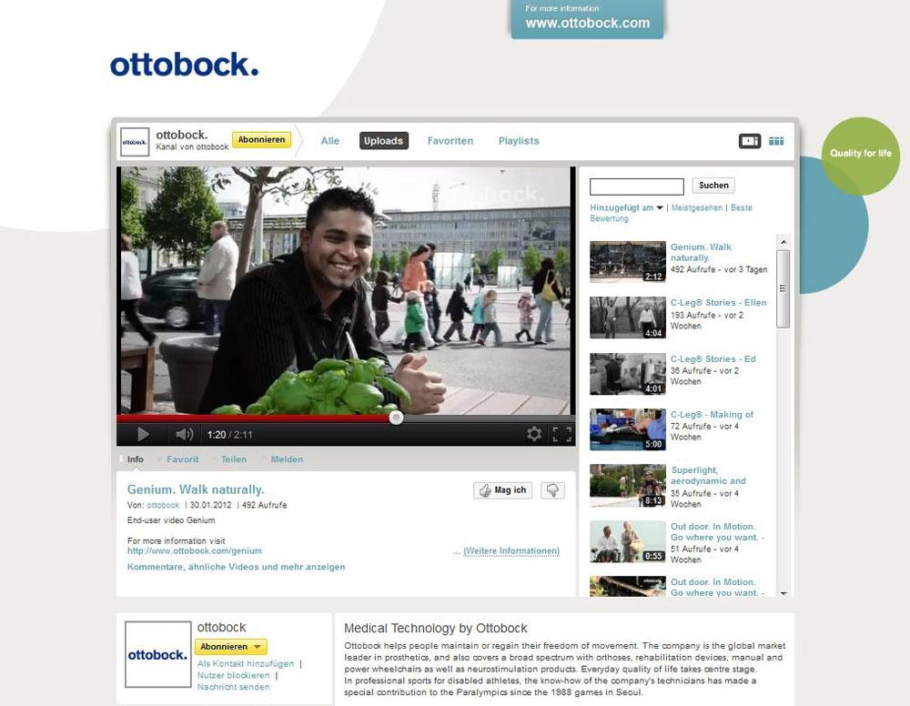 Ottobock YouTube Channel