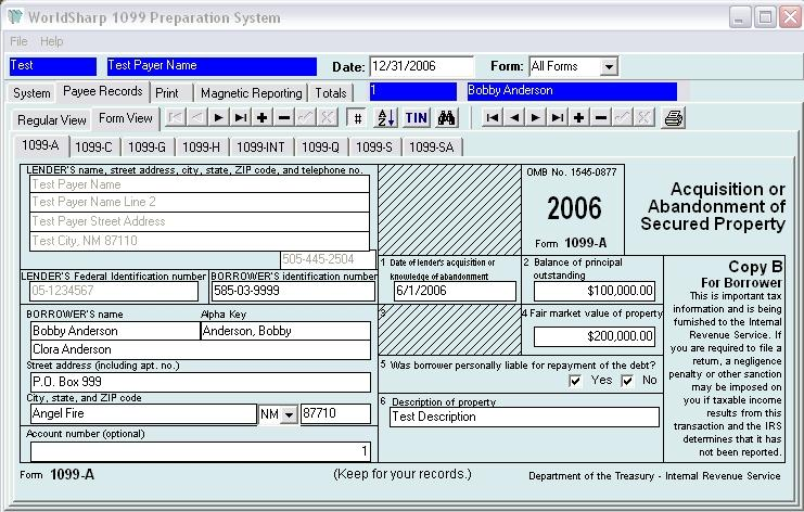 WorldSharp Technologies, Inc. Announces the WorldSharp 1099 Tax Form Preparation System with Electronic Reporting has been enhanced.
