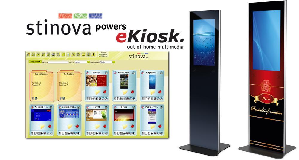 Stinova Digital Signage Software powers eKiosk Hardware