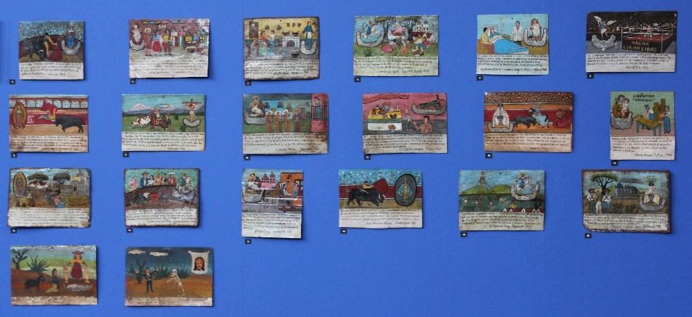 Ex-votos paintings in Frida Kahlo Exhibition August 2011