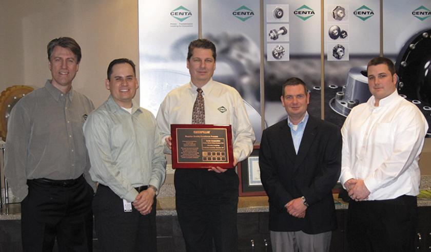 Caterpillar Inc. presents the SQEP Certificate in bronze to CENTA