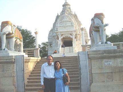 Proud to be BITSian Ranvir Trehan with wife Adarsh at Saraswati Temple Pilani