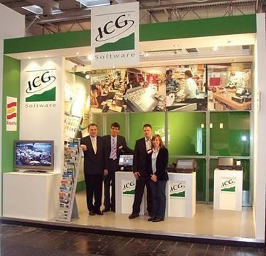 View of the ICG booth on the CeBIT 2008 show