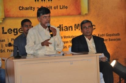 Sri Nara CHnadra Babu NAidu , Managing Trustee & MR. Venkat Motaparthy, the CEO of NTR Memorial Trust addressing the media