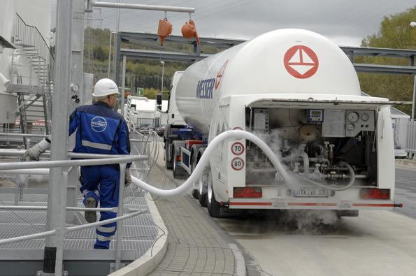 Liquid Nitrogen is stored in tanks and transported to customers by tanker lorries