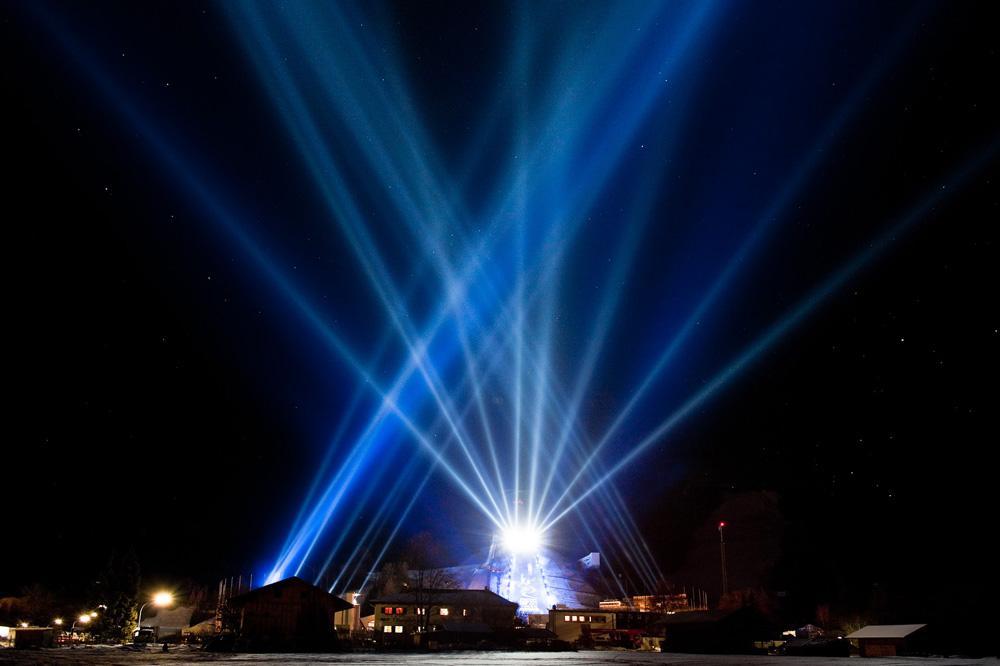 OSRAM and A&O Technology's light show for FIS Alpine World Ski Championships 2011, Photos: © OSRAM, Text: OSRAM, A&O Technology