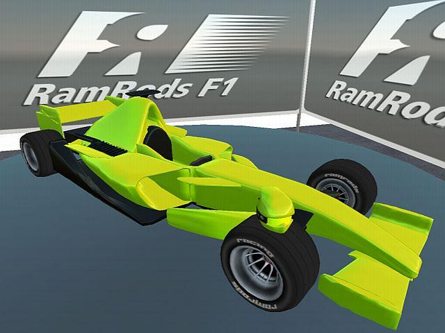 The fully sculpted RamRod F1 Car