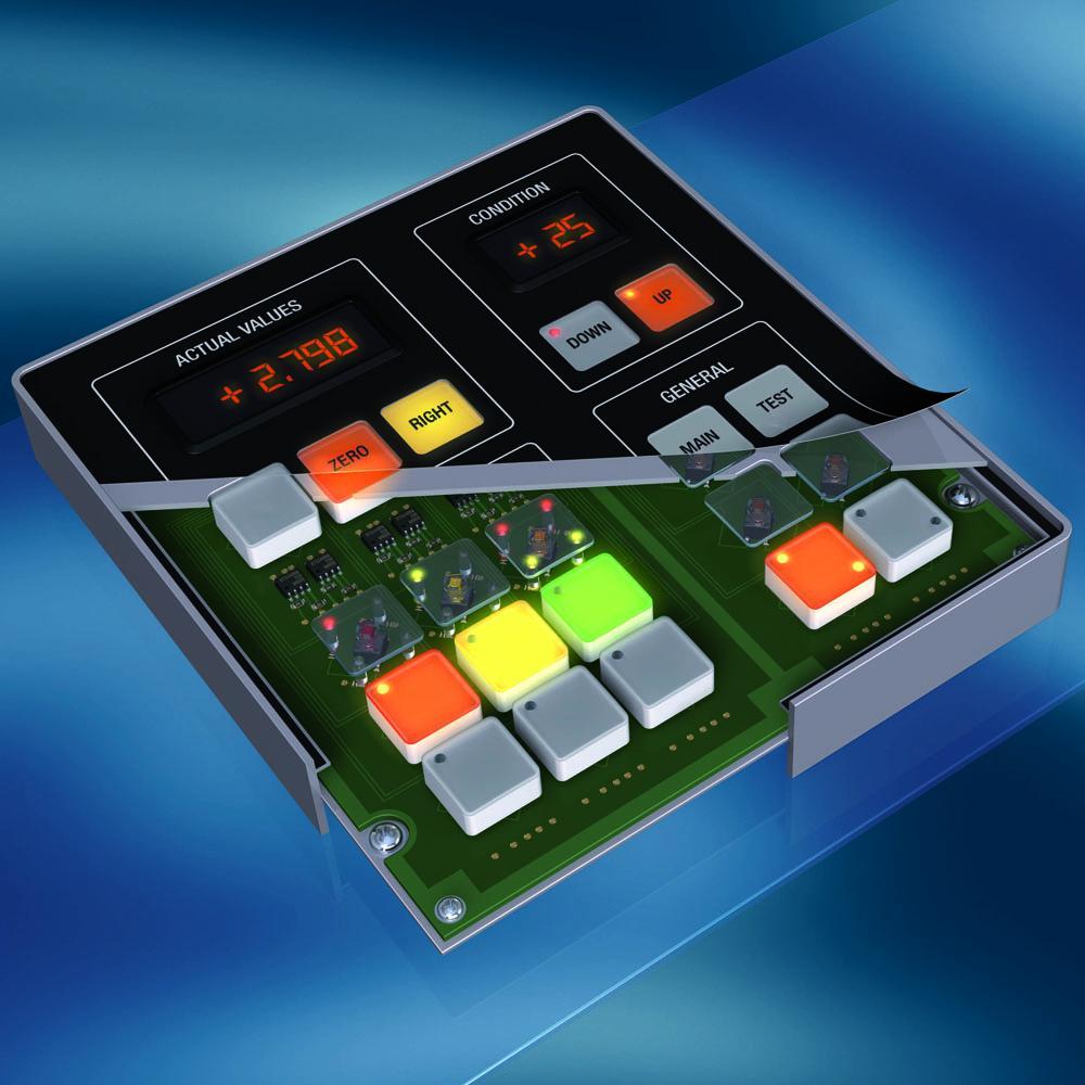 MENTOR patented plungers for short-stroke keypads