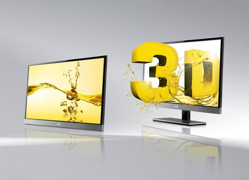The AOC d2357Ph combines passive 3D technology and stylish design.