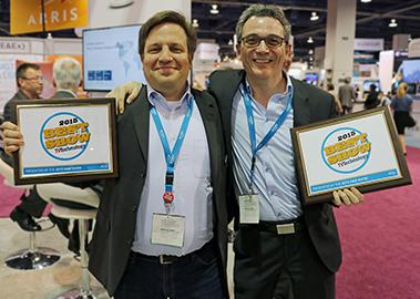 Stefan Eckardt (left) and Christian Schneider are delighted to receive the 'NAB Best of Show' Awards