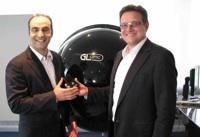 Michael Gall, CEO at Just Normlicht (to the right) welcomes competent recruitment: Abdel H. Naji, Global Sales Manager.