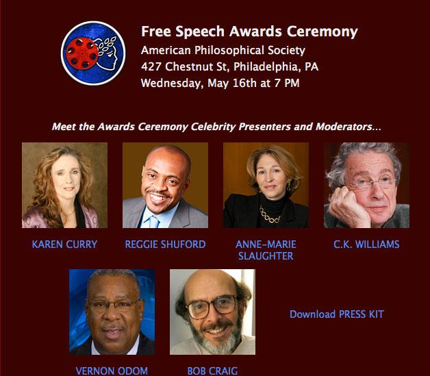 Free Speech Presenters and Moderators