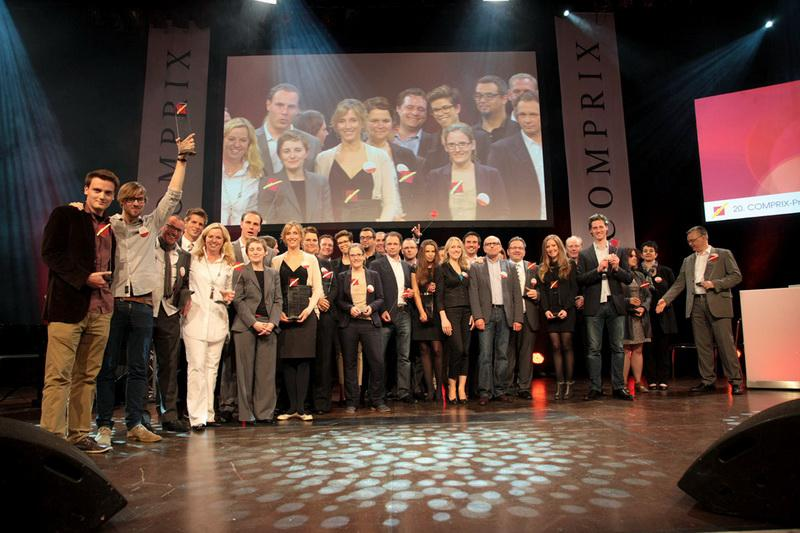 Presentation of the Comprix Gold Awards 2012 at the Tanzbrunnen in Cologne.