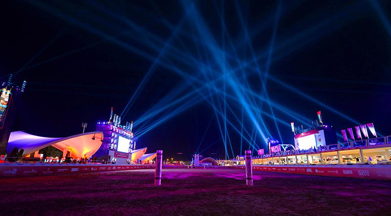 A&O Technology created spectacular special effects with its FALCON for the Beach Polo Cup Dubai, photo © mamemo productions