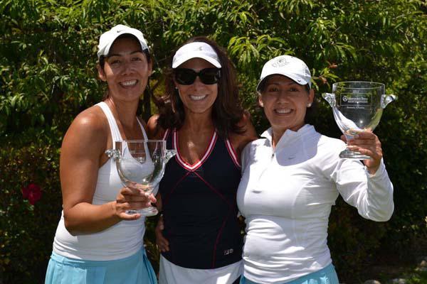 Caption: Rosa LeClerc of La Canada, Elizabeth Rusnak Arizmendi of Rusnak Auto Group, and Lourdes Gonzalez of Whittier