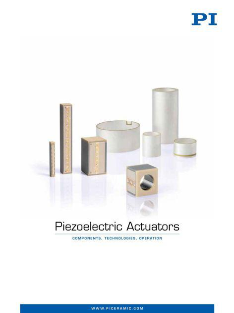 "New product catalog ""Piezoelectric Actuators - Components, Technologies, Operation"""