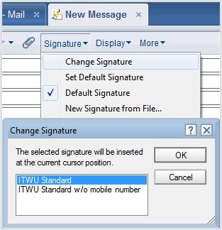 With the new multi-signature feature a user gets to choose from many different e-mail signatures