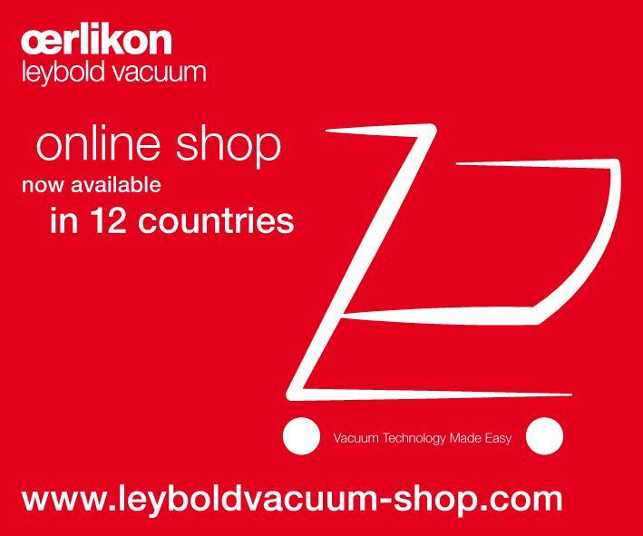 Oerlikon Leybold Vacuum improves on Speed and Services
