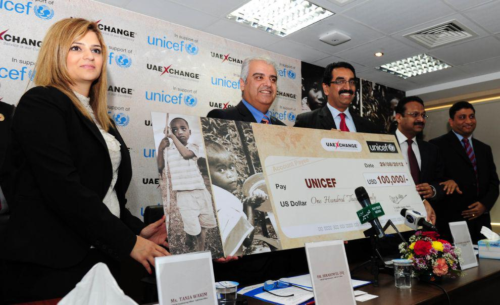 During the Press Conference, UAE Exchange Country Office, Dubai