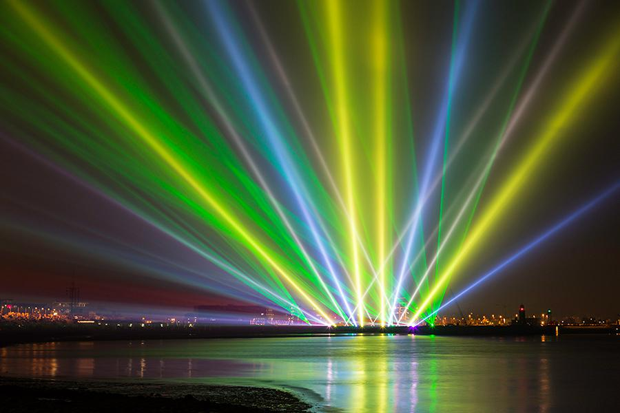 A&O Creative crowns the Sail Bremerhaven 2015 with spectacular light shows, photo © Thomas Kuhnke