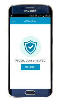 ViPNet Client for Android provides protection for sensitive business communication on Android-based mobile devices.