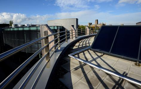 TiSUN solar thermal system at the roof of the Palatine centre of Durham university