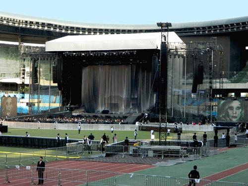 eps infrastructure provider on tour with Lady Gaga