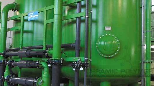Sand filter vessels for drinking water.