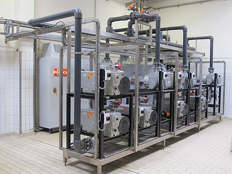 Busch centralised vacuum system at DMK in Georgsmarienhütte/Germany