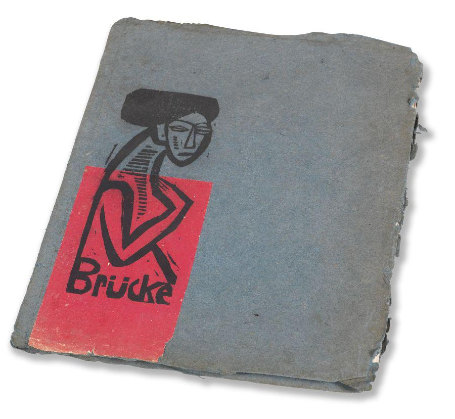 Die Brücke. Artist catalog with 10 original woodcuts by M. Pechstein and others. Berlin, 1912. Result: EUR 27.000*