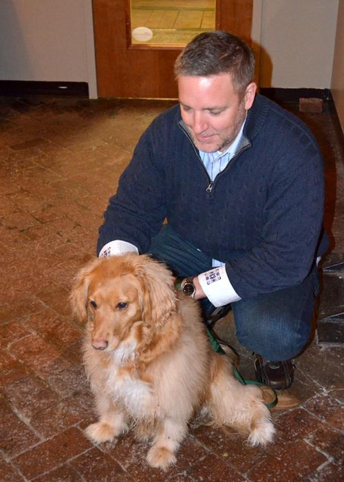 eleventy President and his dog Zoe enjoy the first Puppy Friday.