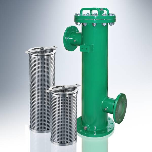 Filter housings from the SRFL-SW product line with REL filter elements made of stainless steel